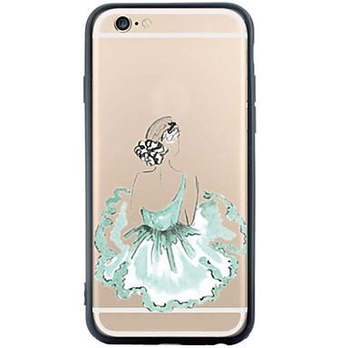 용 아이폰6케이스 아이폰6플러스 케이스 케이스 커버 패턴 뒷면 커버 케이스 섹시 레이디 소프트 TPU 용 Apple iPhone 6s Plus iPhone 6 Plus iPhone 6s 아이폰 6 iPhone SE/5s iPhone 5