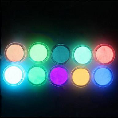 1 Glitter i Poudre Puder Błyskotki Klasyczny Jarzy się w ciemności Wysoka jakość Codzienny