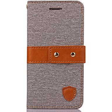용 아이폰7케이스 / 아이폰7플러스 케이스 지갑 케이스 풀 바디 케이스 단색 하드 인조 가죽 Apple 아이폰 7 플러스 / 아이폰 (7)