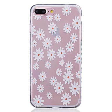 Mert iPhone 7 tok / iPhone 7 Plus tok / iPhone 6 tok Minta Case Hátlap Case Virág Puha TPU AppleiPhone 7 Plus / iPhone 7 / iPhone 6s
