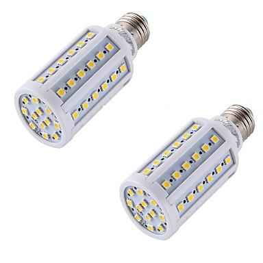 8 E26/E27 LED 콘 조명 A60(A19) 60 SMD 5050 560 lm 따뜻한 화이트 장식 AC 220-240 V 2개