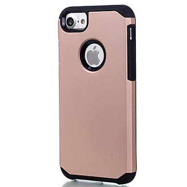 Case Kompatibilitás Apple iPhone 5 tok iPhone 6 iPhone 7 Ütésálló Fekete tok Tömör szín Kemény PC mert iPhone 7 Plus iPhone 7 iPhone 6s