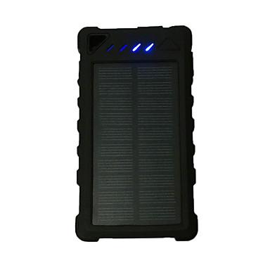 teljesítmény bank külső akkumulátor 5V 1.0A #A Akkumulátor töltő Zseblámpa Több csatlakozós Napelemes LED