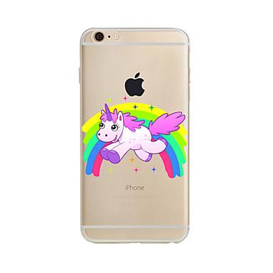 Case Kompatibilitás Apple iPhone X iPhone 8 Plus iPhone 7 iPhone 6 iPhone 5 tok Áttetsző Minta Hátlap Egyszarvú Puha TPU mert iPhone X
