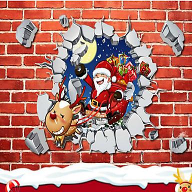 새 해에 낭만적 인 크리스마스 눈송이 벽 스티커 상점 유리 창 장식 스티커 45 * 60cm