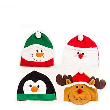 1 개 크리스마스 모자 눈사람 / 엘크 / 산타 클로스 장식 용품 파티 용품 축제 용품 (임의의 색)