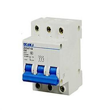 alacsony - feszültségű elektromos készülékek miniatűr megszakító dz47-63c63 3p kis levegő kapcsoló