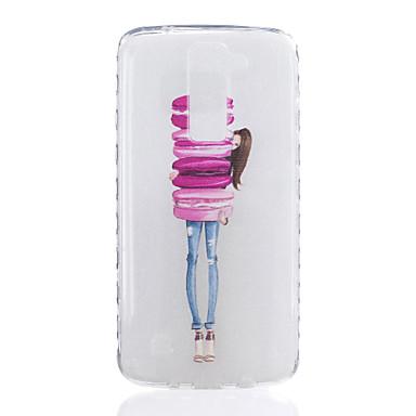 lg k7 k8 k8 어린 소녀 패턴 tpu 소재 매우 투명 휴대 전화 케이스 lg k7 k8 k10 g5