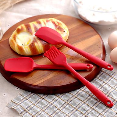 빵 굽기 실리카 젤 논- 스틱 케이크 / 머핀&컵케잌 / 빵 / 쿠키 / 파이 / 타르트 / 피자 Silicone brush21*4.5*1.5;Silicone spatula121*4*1.5;Silicone spatula20.5*3.5*1.5