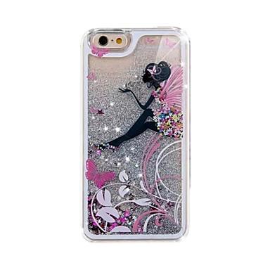 Voor iPhone 5 hoesje Hoesje cover Stromende vloeistof Patroon Achterkantje hoesje Glitterglans Hard PC voor iPhone SE/5s iPhone 5
