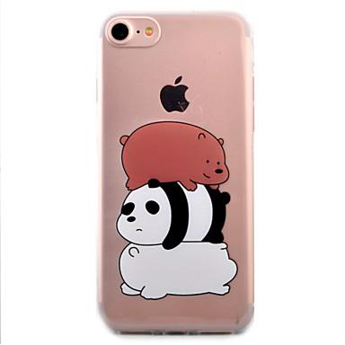 케이스 커버 Apple 용 iPhone 7 iPhone 6 아이폰5케이스 뒷면 커버 투명 패턴 카툰 팬더 소프트 TPU iPhone 7 Plus iPhone 7 iPhone 6s Plus iPhone 6 Plus iPhone 6s iPhone 6