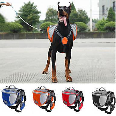 Kutya Hordozók és hátizsákok utazáshoz kutya Pack Házi kedvencek Hordozók Vízálló Hordozható Narancssárga Piros Kék Fekete