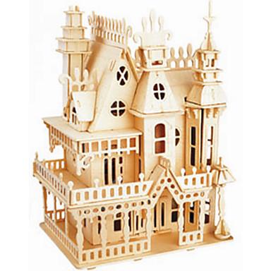 Jigsaw Puzzle Fából készült építőjátékok Építőkockák DIY játékok kastély 1 Fa Kristály
