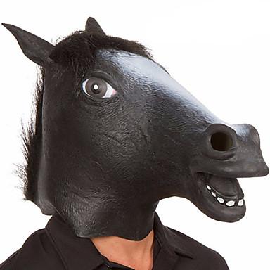 Maski na Halloween Maska zwierzęca Zabawki Głowa konia Lateks Gumowy Motyw horroru Zabawne 1 Sztuk Dla obu płci Halloween Bal maskowy