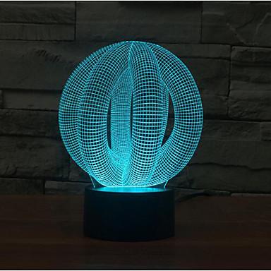 kör a labda érintés tompítása 3D LED éjszakai fény 7colorful dekoráció hangulat lámpa újdonság világítás karácsonyi fény