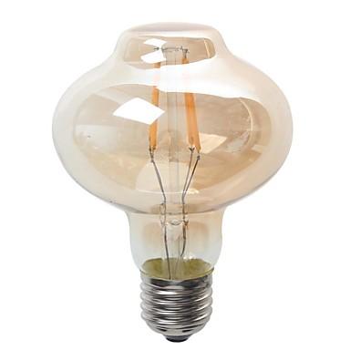 4W 400 lm E26/E27 Żarówki LED kulki G80 4 Diody lED COB Wodoodporne Dekoracyjna Ciepła biel AC 220-240V