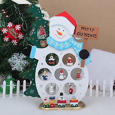 Boże Narodzenie dekoracji drewna tabeli prezent Boże Narodzenie bałwan z ornamentem na X'mas Snowman artykuły wyposażenia wnętrz
