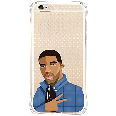 Mert iPhone 6 tok / iPhone 6 Plus tok / iPhone 5 tok Ütésálló / Átlátszó / Minta Case Hátlap Case Rajzfilmfigura Puha TPU AppleiPhone 6s