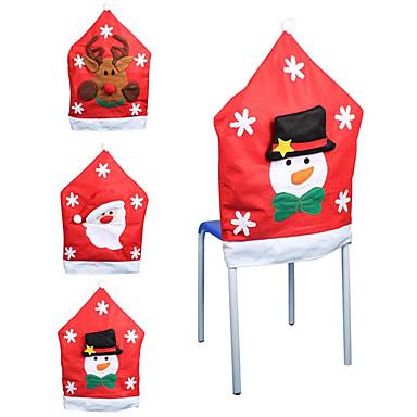 mikulás hópehely mintás szék fedél karácsonyi dekoráció kellékek karácsonyi díszek (stílus véletlenszerű)