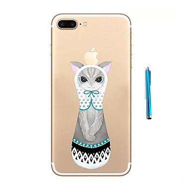 Mert Minta Case Hátlap Case Cica Puha TPU Apple iPhone 7 Plus / iPhone 7