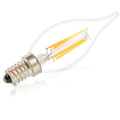 e14 żarówki LED żarówki ca35 6 cob 550lm ciepłe białe zimno białe 2700-6500k ściemnialne dekoracyjne ac 220v