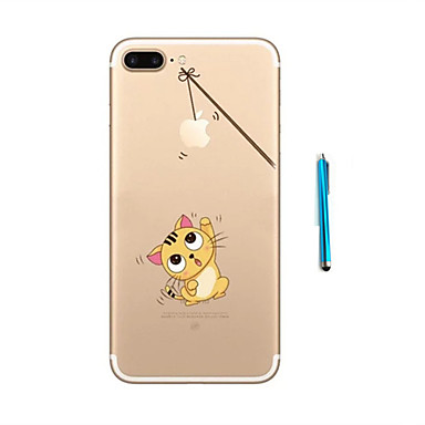 용 패턴 케이스 뒷면 커버 케이스 고양이 소프트 TPU Apple 아이폰 7 플러스 / 아이폰 (7)