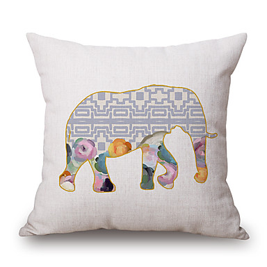 1 szt Poliester Pokrywa Pillow, Wzór zwierzęcy Akcent / Decorative Modern / Contemporary