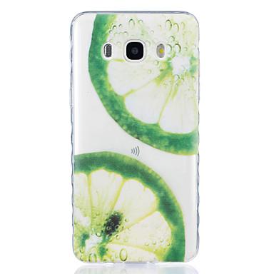Case Kompatibilitás Samsung Galaxy J7 (2016) J5 (2016) Átlátszó Minta Hátlap Gyümölcs Puha TPU mert J7 (2016) J5 (2016) J5 J3 J3 Pro J1