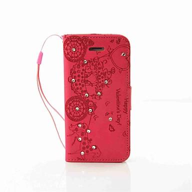 Kompatibilitás iPhone 7 tok iPhone 6 tok iPhone 5 tok tokok Pénztárca Kártyatartó Strassz Állvánnyal Teljes védelem Case Szív Kemény