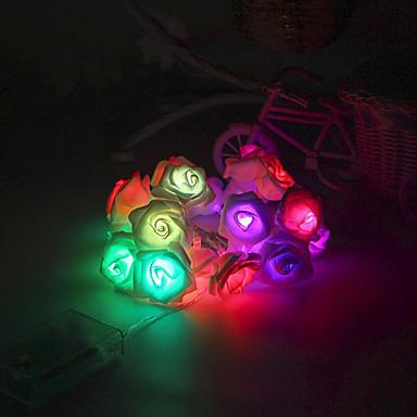 스트링 조명 20 LED 따뜻한 화이트 리모콘 밝기조절가능 방수 색상-변화 연결가능 DC 5V DC5