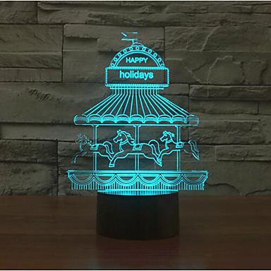 놀이 공원 터치 디밍 차원 야간 조명 7colorful 장식 분위기 램프 참신 조명 크리스마스 조명 주도