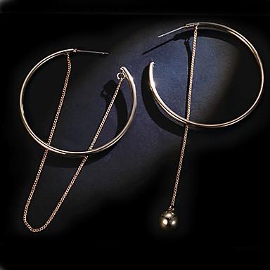 여성용 골드 드랍 귀걸이 링 귀걸이 매달려 귀걸이 - 골드 귀걸이 제품 결혼식 파티 일상 캐쥬얼