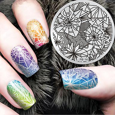 1pcs tłoczenie Plate Elegancki / Modny Nail Art Design Modny design Codzienny