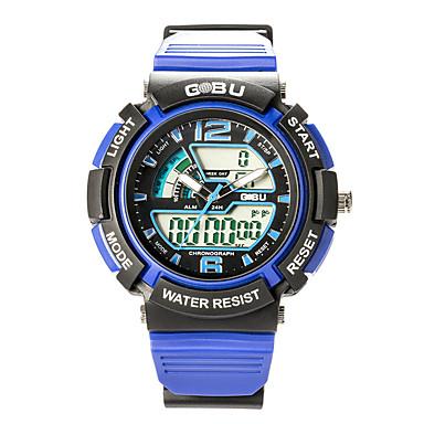 남성 스포츠 시계 밀리터리 시계 스마트 시계 패션 시계 손목 시계 LED 크로노그래프 방수 듀얼 타임 존 스톱워치 야광 디지털 일본 쿼츠 실리콘 밴드 캐쥬얼 블랙