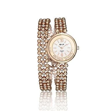 Women's Fashion Watch Bracelet Watch Water Resistant / Water Proof Quartz Alloy Band Charm Elegant Casual Gold