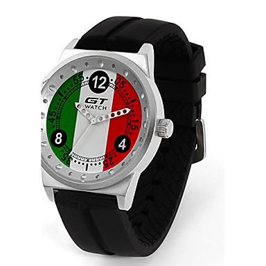남성용 석영 손목 시계 스포츠 시계 / 뜨거운 판매 실리콘 밴드 캐쥬얼 패션 블랙