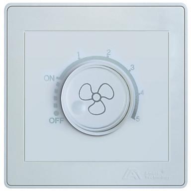 Auman elektronikus fordulatszám / elektronikus dimmer kapcsoló 86 fali kapcsoló aljzat panel AT7 fehér