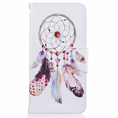 Card Holder Flip Dream Catcher Pattern Case Full Body Case Hard PU Leather for iPhone 7 7Plus 6s Plus 6 SE 5S