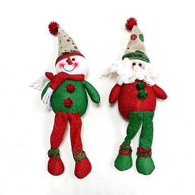 karácsonyi díszek hóember&mikulás 2db