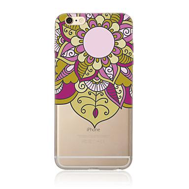 Case Kompatibilitás Apple iPhone X iPhone 8 Plus iPhone 7 iPhone 6 iPhone 5 tok Áttetsző Minta Hátlap Mandala Puha TPU mert iPhone X
