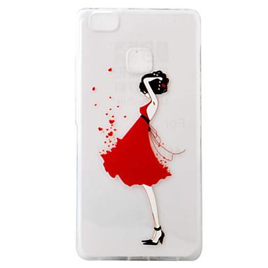 Case Kompatibilitás Huawei P9 Huawei P9 Lite Huawei Huawei P8 Lite Minta Fekete tok Szexi lány Puha TPU mert Huawei P9 Lite Huawei P9