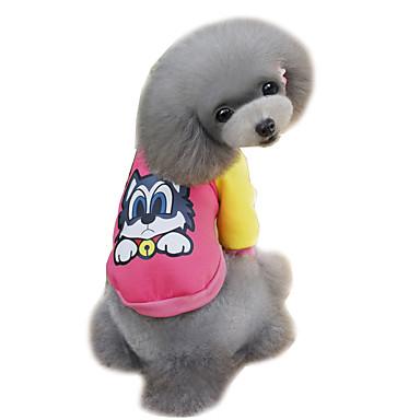 강아지 맨투맨 스웻티셔츠 강아지 의류 귀여운 패션 만화 오렌지 그레이 옐로우 블루 핑크 코스츔 애완 동물
