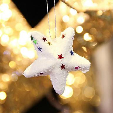 6PCS 핫 핫 스타일의 크리스마스 제품 크리스마스 버블 볼 스타 아름다운 크리스마스 장식 필요한 액세서리
