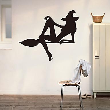 애니멀 / 보태니컬 / 정물화 벽 스티커 플레인 월스티커 / 3D 월 스티커 데코레이티브 월 스티커 / 냉장고 스티커,PVC 자료 이동가능 / 재부착가능 홈 장식 벽 데칼