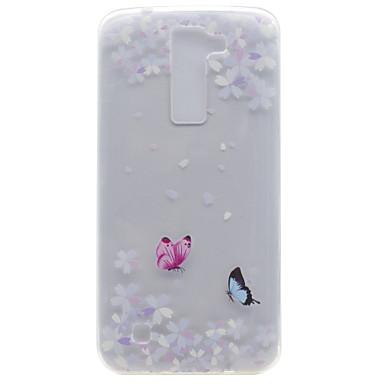 Για Διαφανής Με σχέδια tok Πίσω Κάλυμμα tok Πεταλούδα Μαλακή TPU για LG LG K10 LG K8 LG K7 LG Nexus 5Χ LG X Power