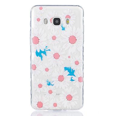 Case Kompatibilitás Samsung Galaxy J7 (2016) J5 (2016) Átlátszó Minta Hátlap Virág Puha TPU mert J7 (2016) J5 (2016) J5 J3 J3 Pro J1
