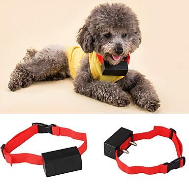 Hond blafhalsband anti Bark Elektronisch / Electrisch Trilling Effen Nylon Rood