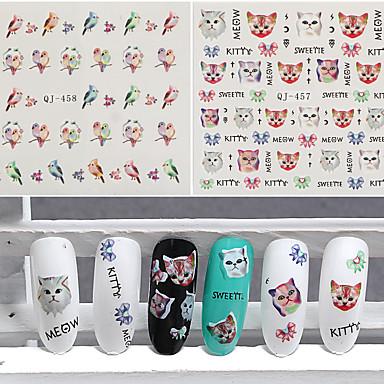 3pcs 아트 스티커 네일 물 전송 데칼 메이크업 화장품 아트 디자인 네일