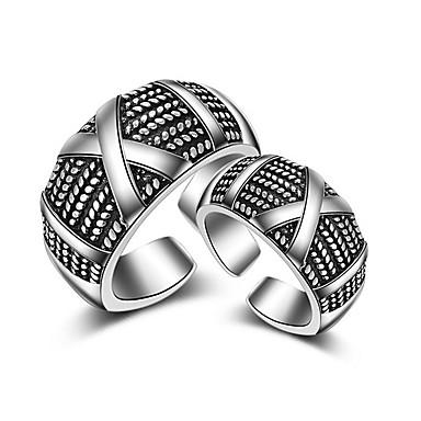 Férfi Női Karikagyűrűk Ujjperc gyűrű Ékszerek Sexy Crossover Divat Állítható Imádni való Hip-Hop Multi-módon kell viselni Ezüst Ékszerek