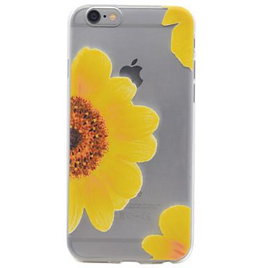 Case Kompatibilitás Apple iPhone 7 iPhone 6 iPhone 5 tok Minta Hátlap Virág Puha TPU mert iPhone 7 Plus iPhone 7 iPhone 6s Plus iPhone 6